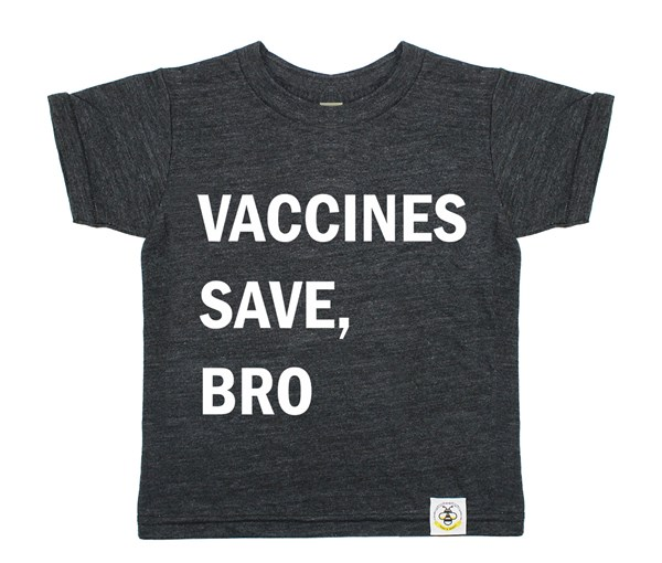 Vaccines Save, Bro (Heather Charcoal)