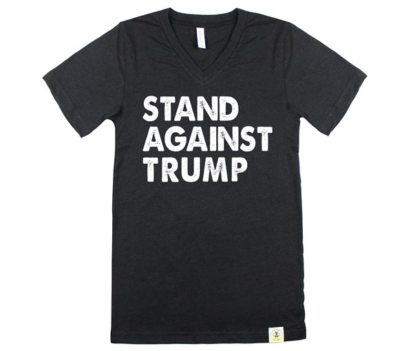 Stand Against Trump (Adult, Black Heather)