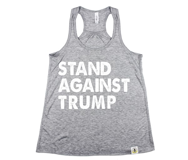 Stand Against Trump (Tank, Athletic Grey)