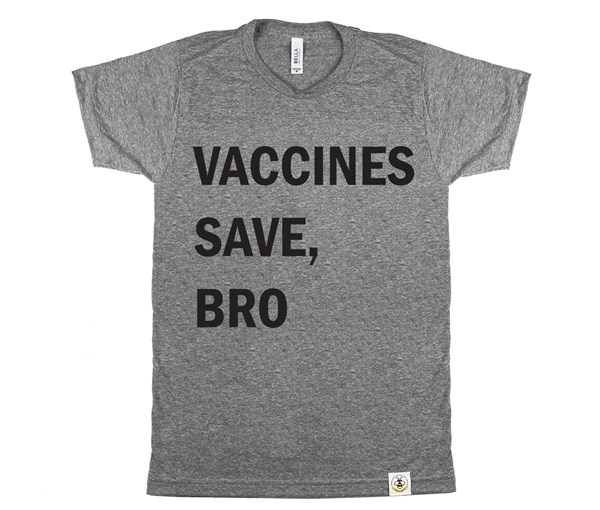 Vaccines Save, Bro (Adult Crew)