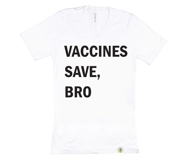 Vaccines Save, Bro Adult (White)