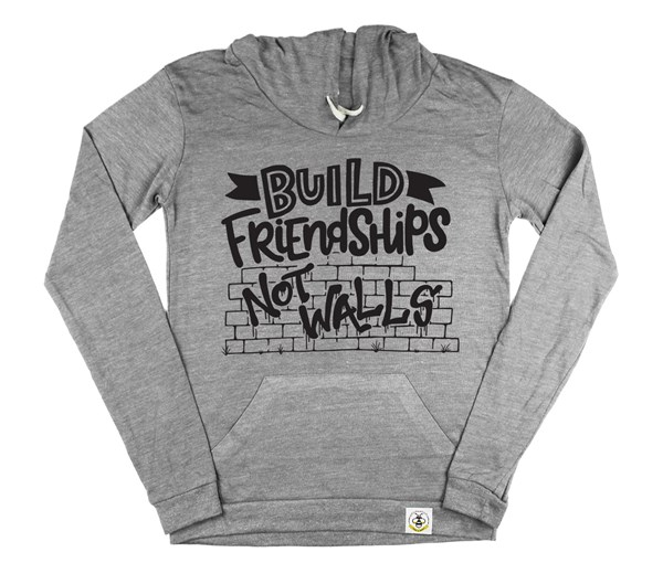 Build Friendships Women's Hoodie (Grey)