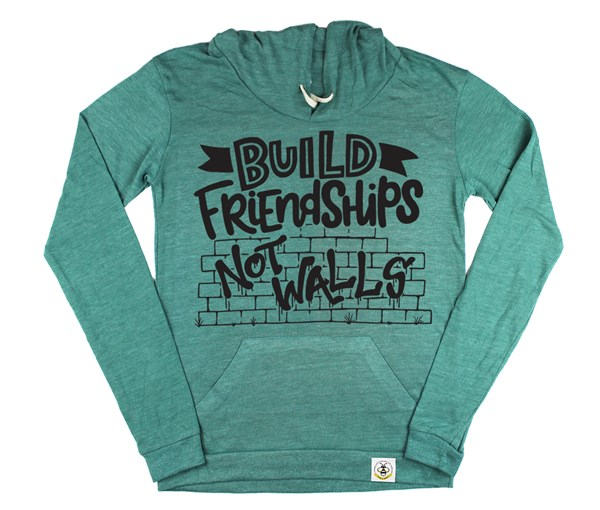 Build Friendships Women's Hoodie (Green)