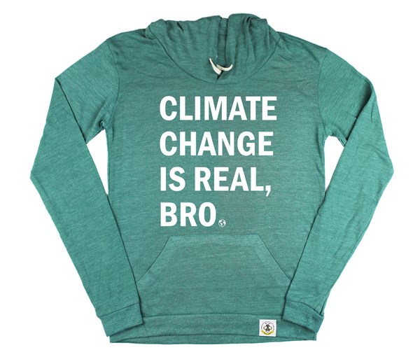 Climate Change Women's Hoodie (Green)