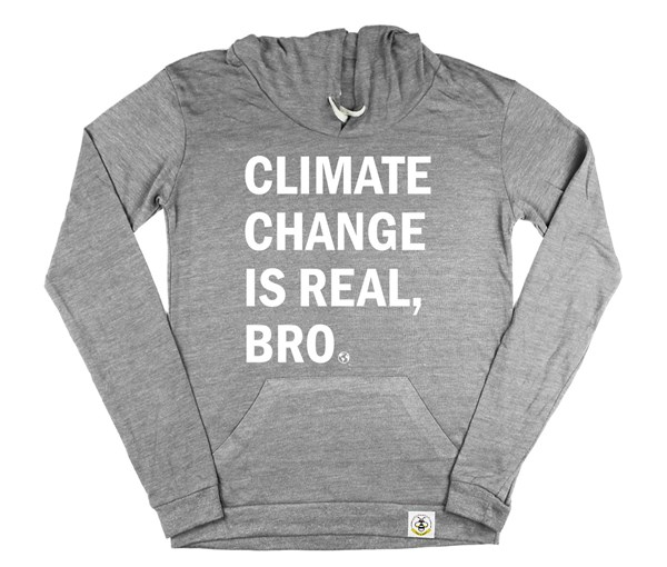 Climate Change Women's Hoodie (Grey)