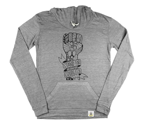 Equality Fist Women's Hoodie (Grey)