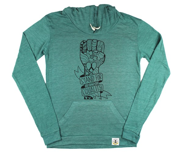 Equality Fist Women's Hoodie (Green)