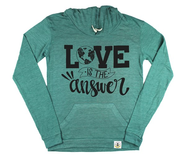 Love is the Answer Women's Hoodie (Green)