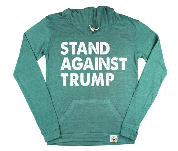 Stand Against Trump Women's Hoodie (Green)