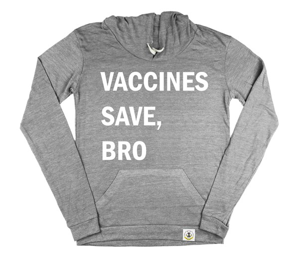Vaccines Save, Bro Women's Hoodie (Grey)