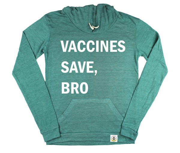 Vaccines Save, Bro Women's Hoodie (Green)