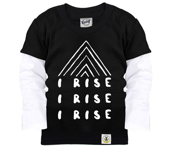 I Rise Layered Tee (Black)
