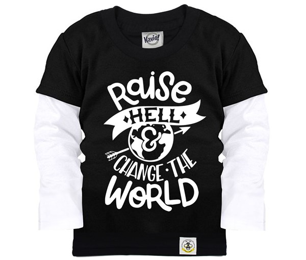 Raise Hell Layered Tee (Black)