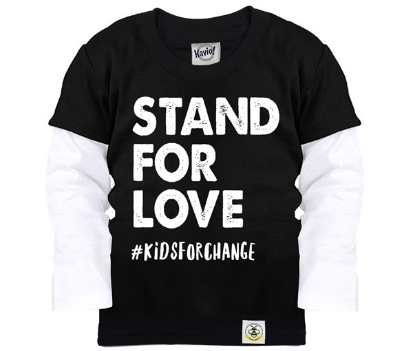 Stand for Love Layered Tee (Black)