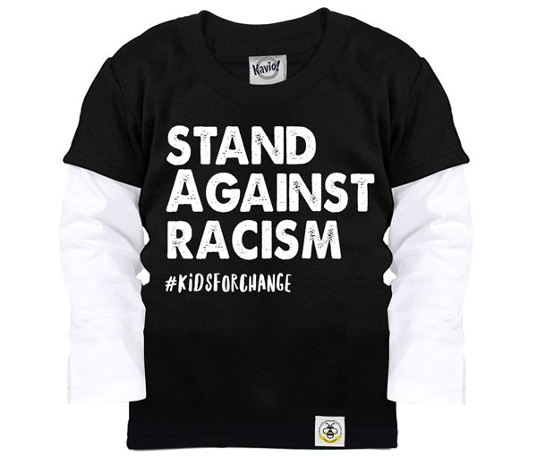 Stand Against Racism Layered Tee (Black)