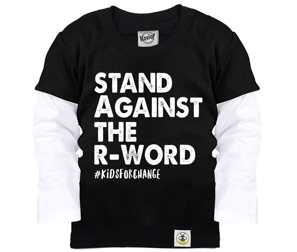 Stand Against The R-Word Layered Tee (Black)