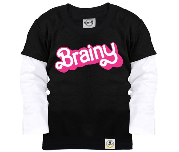 Brainy Layered Tee (Black)