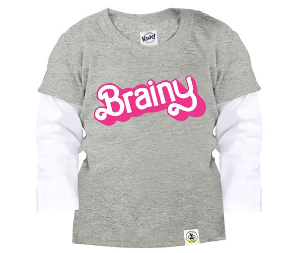 Brainy Layered Tee (Grey)