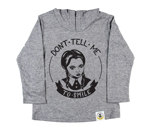 Don't Tell Me Hooded Tee (Grey)