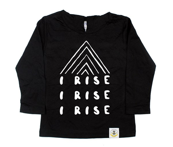 I Rise Hooded Tee (Black)