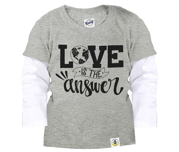 Love is the Answer (Kids Layered Tees)