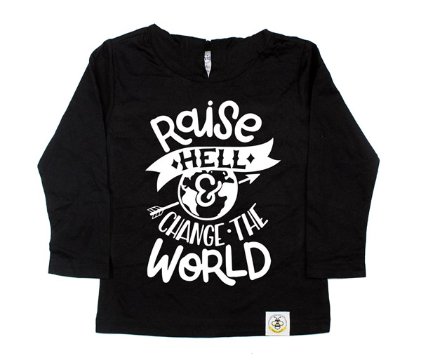 Raise Hell Hooded Tee (Black)