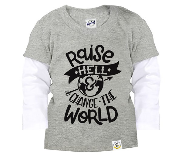 Raise Hell Layered Tee (Grey)