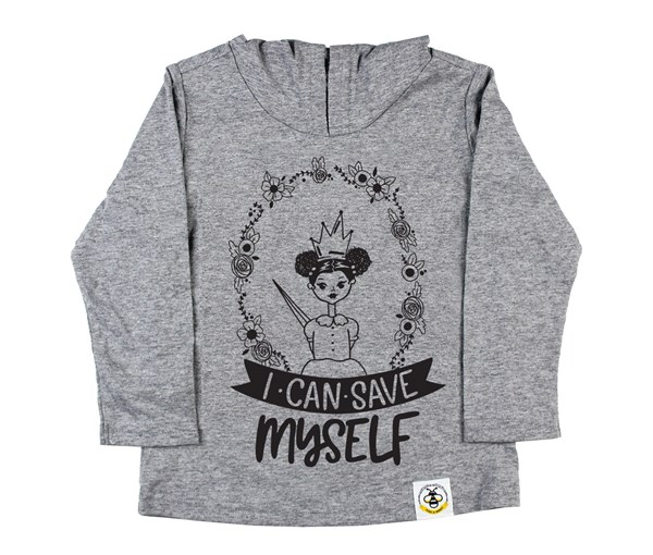 Save Myself - Puffs Hooded Tee (Grey)