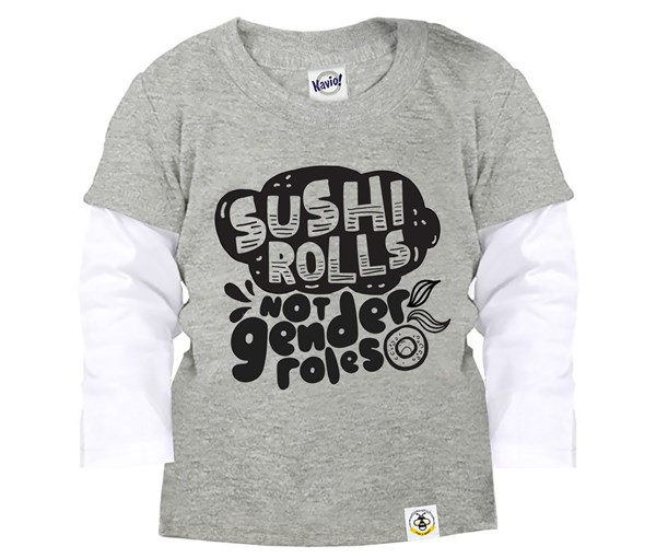 Sushi Rolls Layered Tee (Grey)