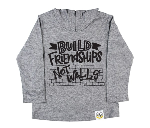 Build Friendships Hooded Tee (Grey)