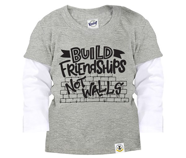 Build Friendships Layered Tee (Grey)