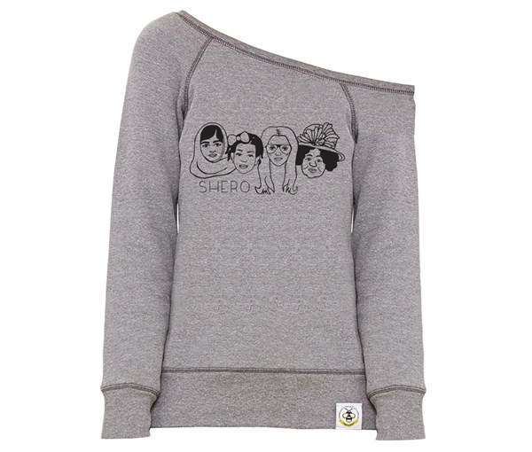 Shero Women's Wide Neck Sweatshirt (Grey)
