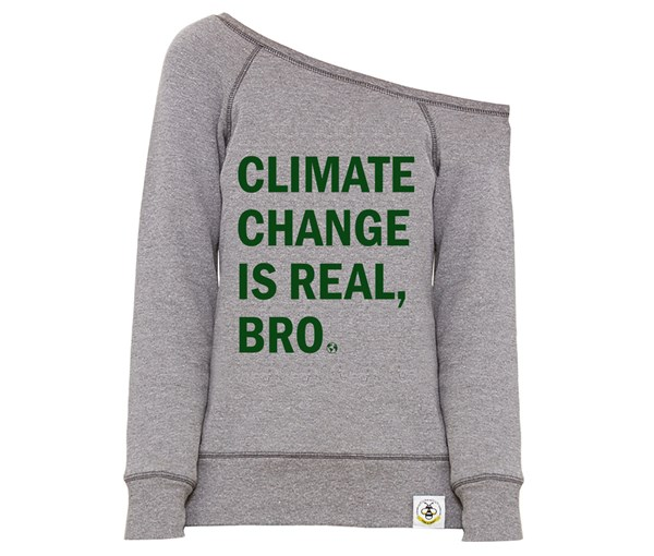 Climate Change Women's Wide Neck Sweatshirt (Grey)