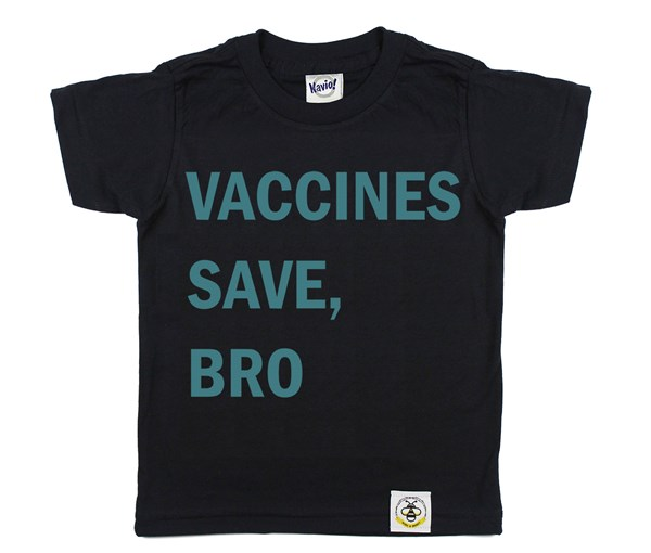 Vaccines Save, Bro (Black, Teal)