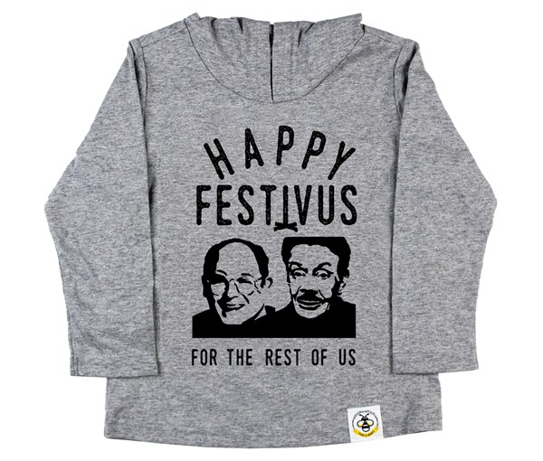Festivus Hooded Tee (Grey)