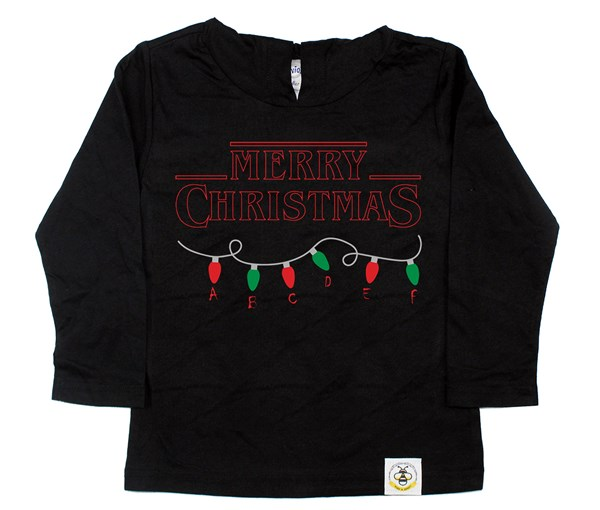 Stranger Christmas Hooded Tee (Black)